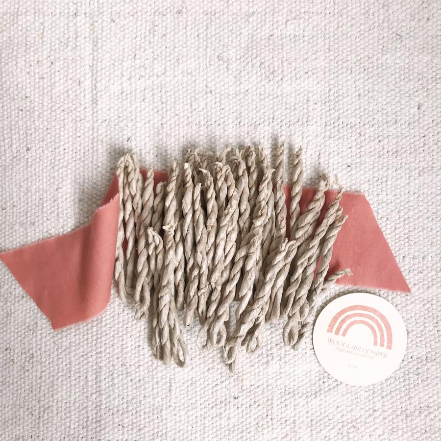 Catherine Rising | hand rolled rope incense (woodland juniper or sun canyon)