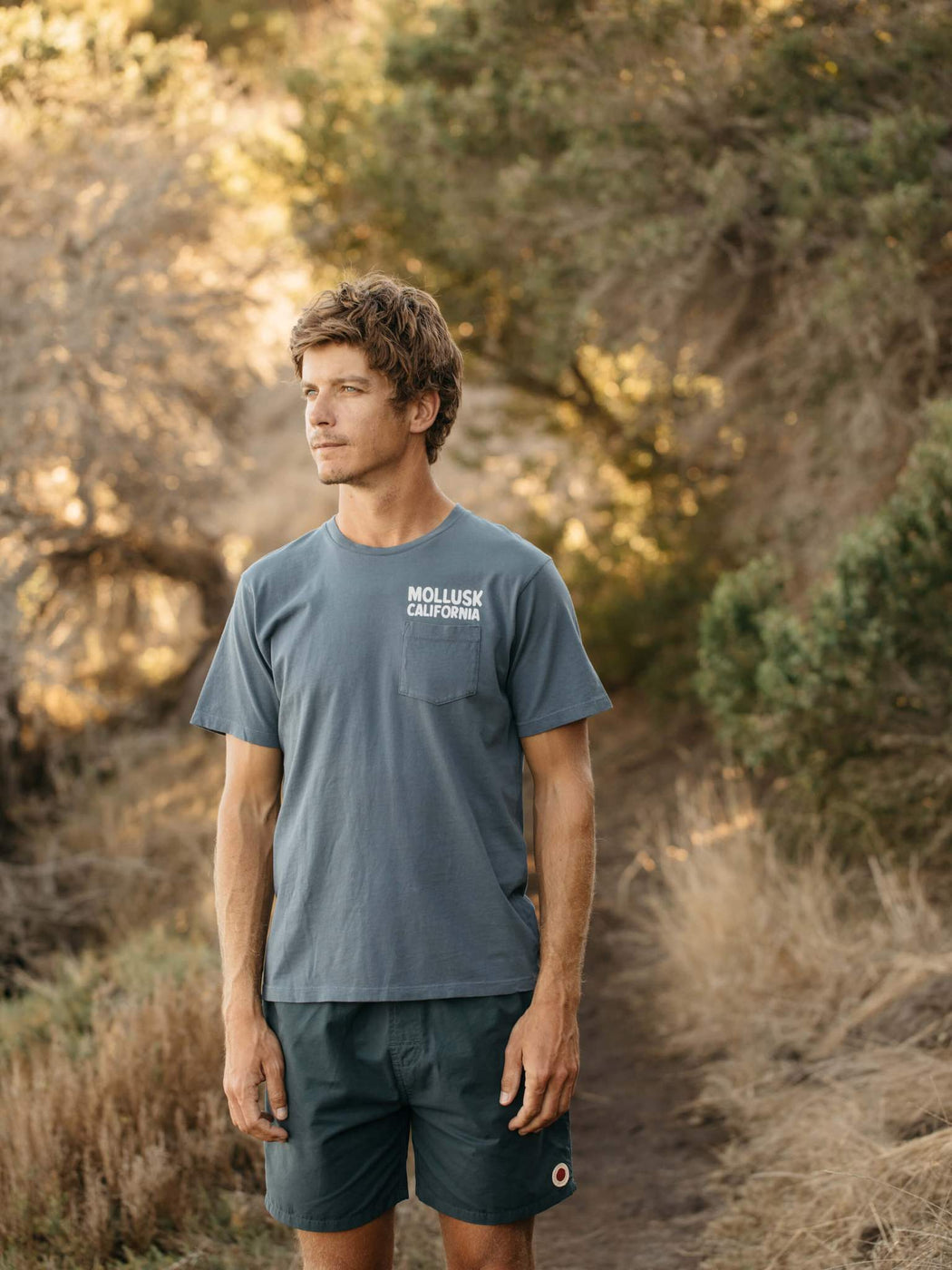 Mollusk Men'sSurf Supply Tee in Faded Navy