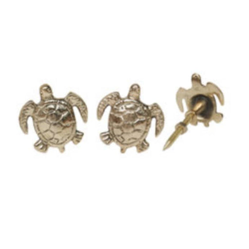 Doing Goods  Shiny Gold Brass Tommy Turtle knobs
