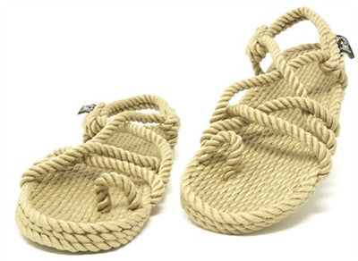 Nomadic State of Mind Toe Joe Rope Sandal in Camel