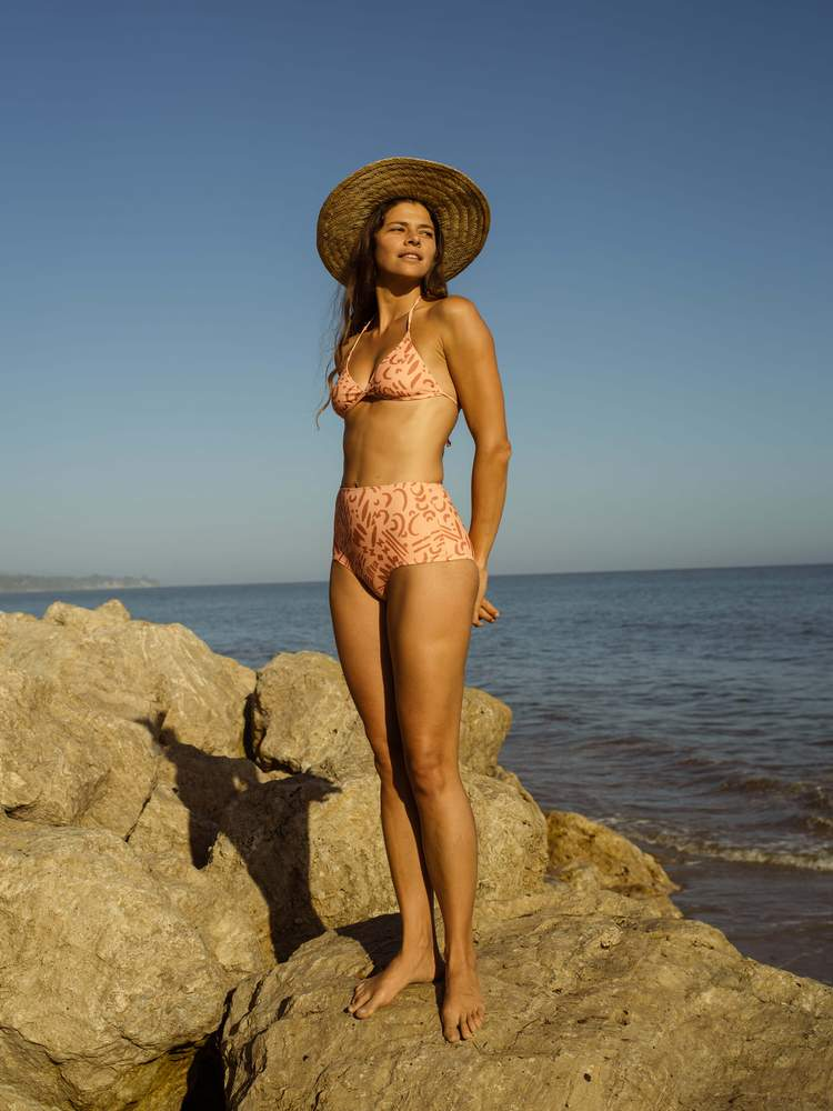 Mollusk Holly Bikini in Blush Moon Dash