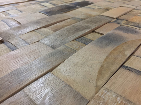 Reclaimed Wine or Whiskey Barrel Stave Wall Panels