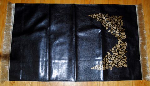 Black Leather Prayer Mat