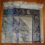PM6 Fancy Turkish Velvet Prayer Mat With Silver Thread