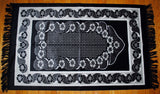 PM8 Fancy Turkish Prayer Mat With Silver Thread