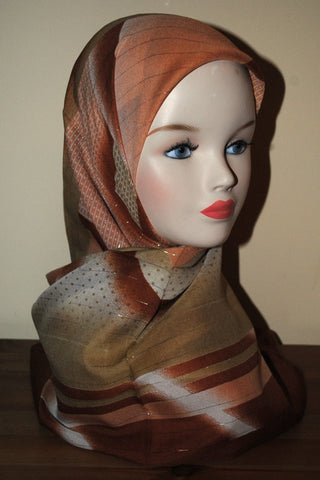 Patterned Square Hijab