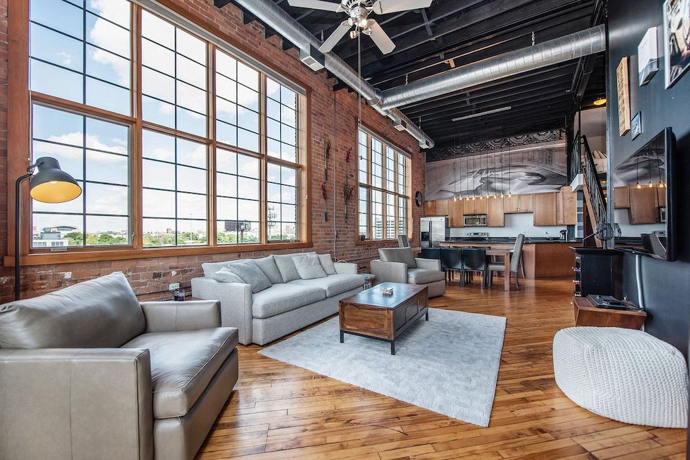 Detroit Loft Converted Piano Warehouse