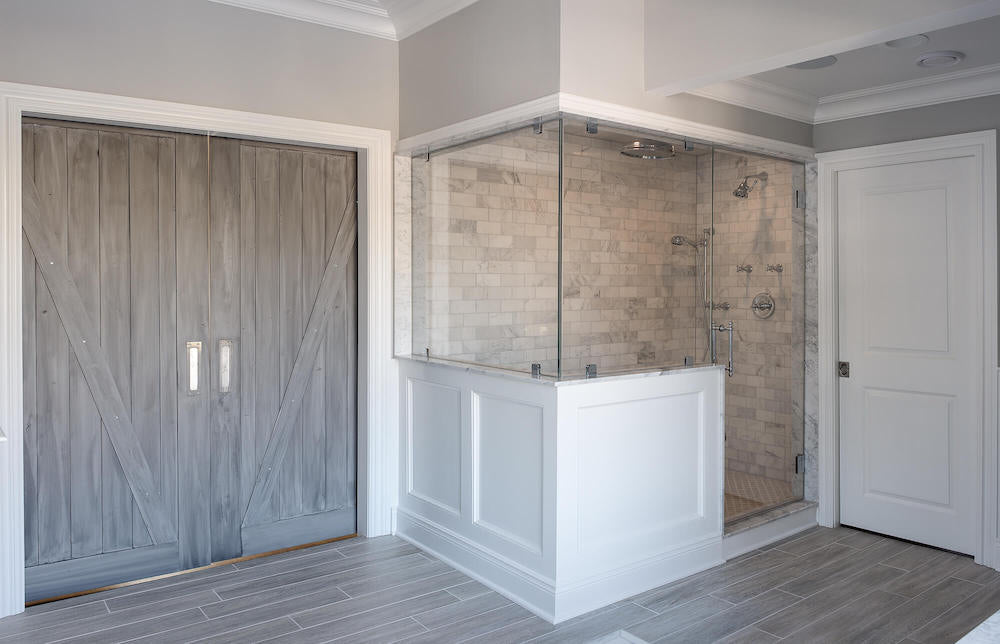 Rustic Bathroom Remodel with Barn Doors