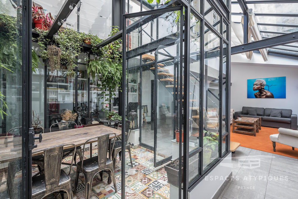 Paris Loft House Converted Printing Factory