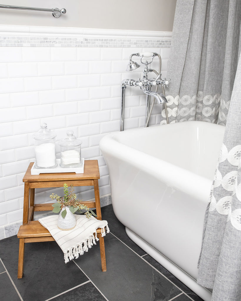 Bathroom Styling Trick Splurge on Turkish Towels