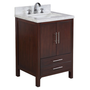 California 24-inch Vanity (Carrara/Chocolate)
