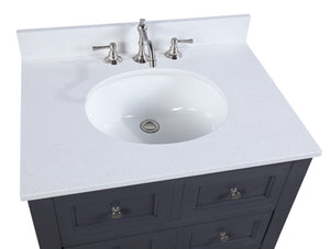 New Yorker 30-inch Vanity with Quartz Top