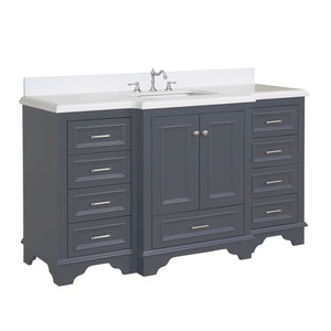 "Nantucket 60"" Single in Quartz & Charcoal Gray"