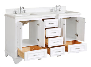 Nantucket 60-inch Double Vanity (Quartz)