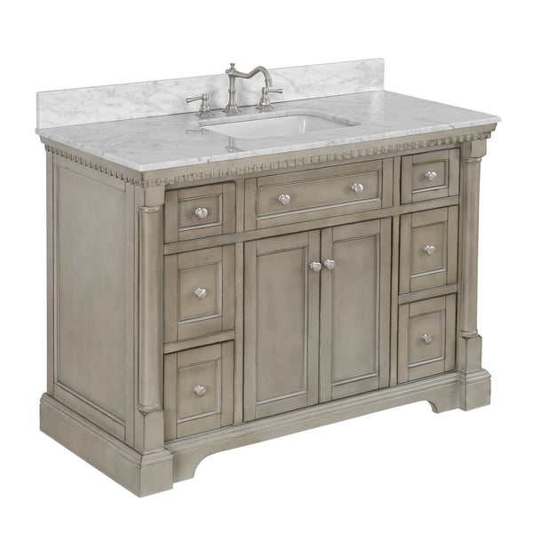 Sydney 48-inch Vanity (Carrara/Weathered Gray)