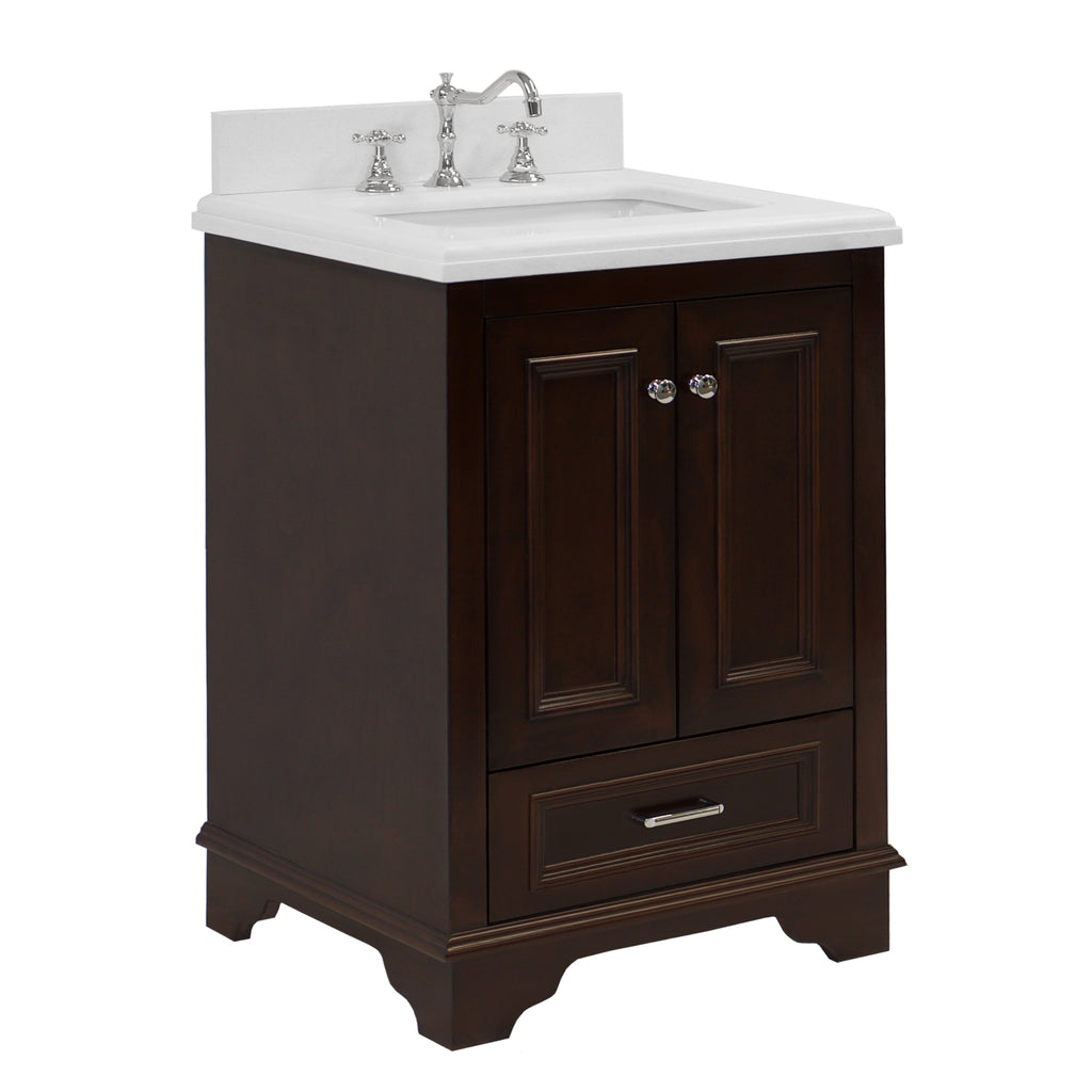 Nantucket 24-inch Vanity (Quartz/Chocolate)