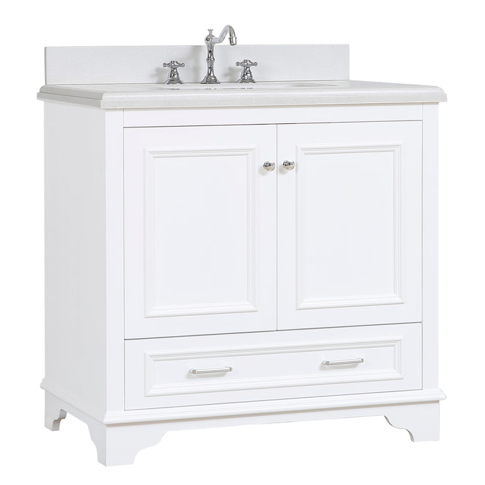 Nantucket 36 Inch Vanity (Quartz/White)