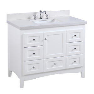 Abbey 42-inch Vanity (Quartz/White)