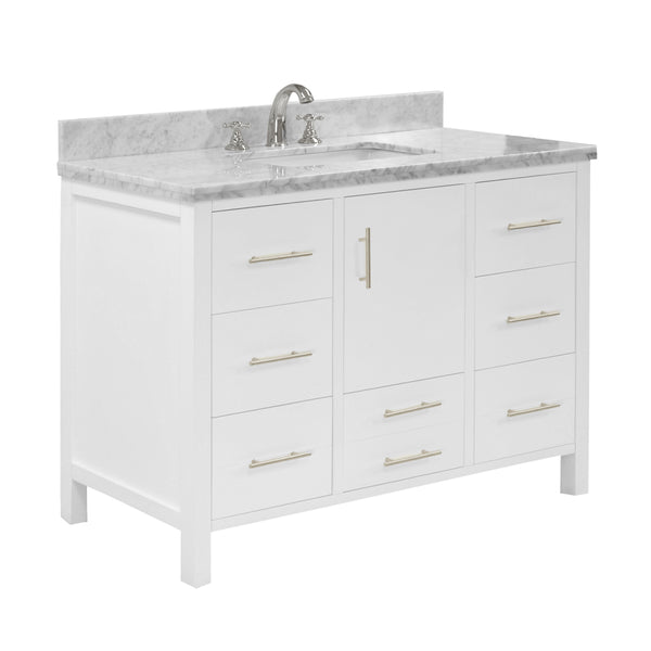 California 42-inch Vanity (Carrara/White)