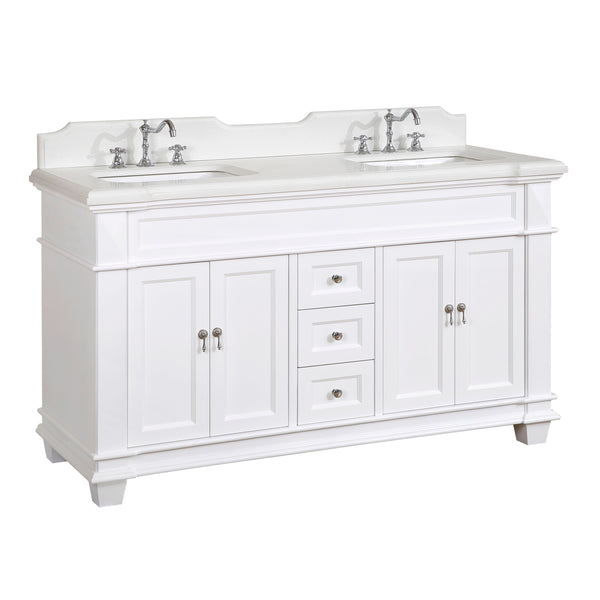 Elizabeth 60-inch Double (Quartz/White)