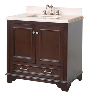 Nantucket 36-inch Vanity with Crema Marfil Top