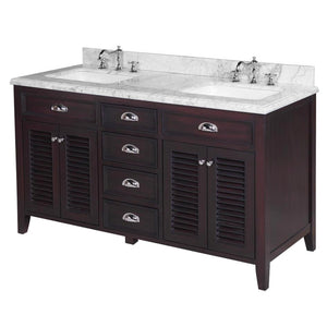 Savannah 60-inch Double (Carrara/Chocolate)