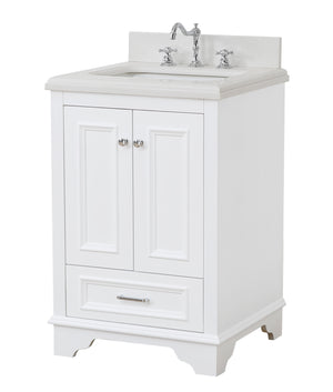Nantucket 24-inch Vanity (Quartz/White)