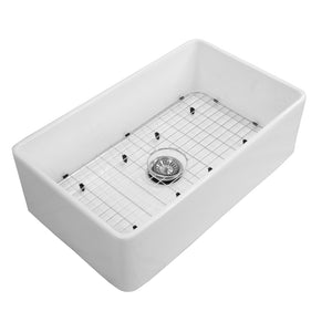 "Charleston 33'' x 8"" Fireclay Farmhouse Kitchen Sink Set"