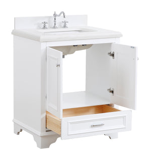 Nantucket 30-inch Vanity with Quartz Top