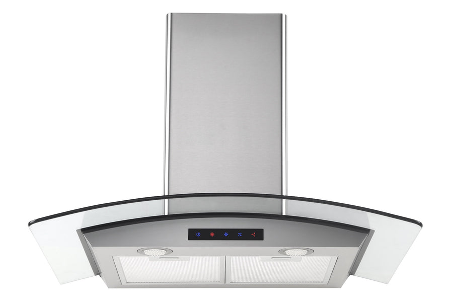 36-inch Stainless Steel Wall Hood with Arched Glass (Model HA90-LED)