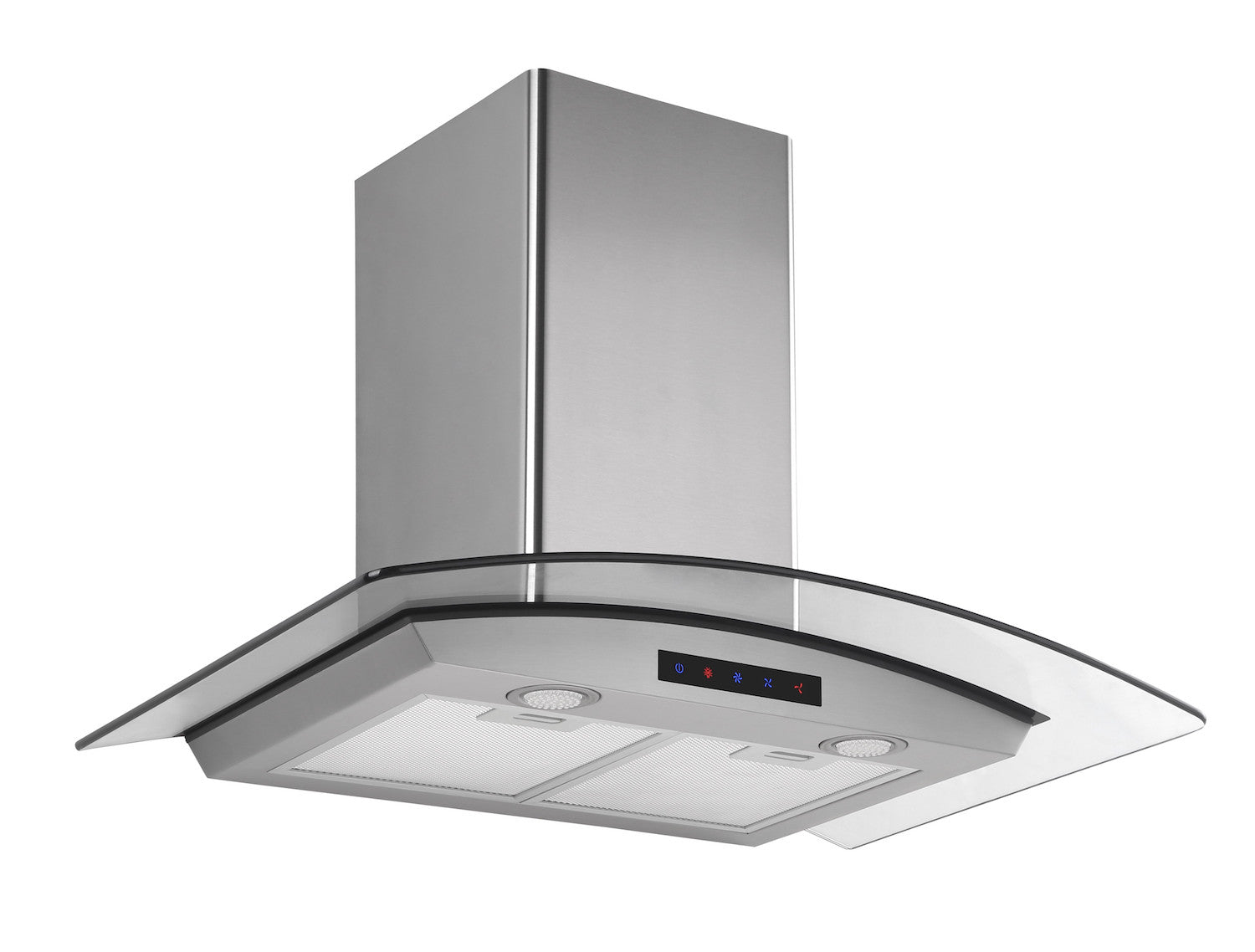 30-inch Stainless Steel Wall Hood with Arched Glass (Model HA75-LED)