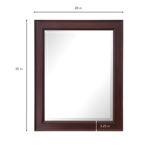 Napa 28-inch Wall Mirror (Chocolate)