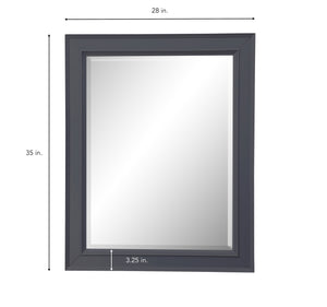 Napa 28-inch Wall Mirror (Charcoal Gray)
