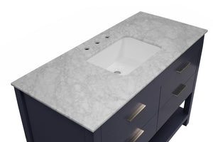 Harbor 48-inch Vanity with Carrara Marble Top