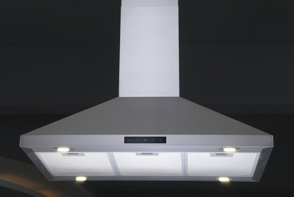 30 Inch Stainless Steel Island Hood Model C75 Led