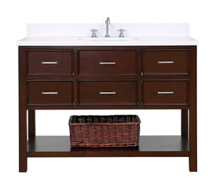 New Hampshire 48-inch Vanity with Quartz Top
