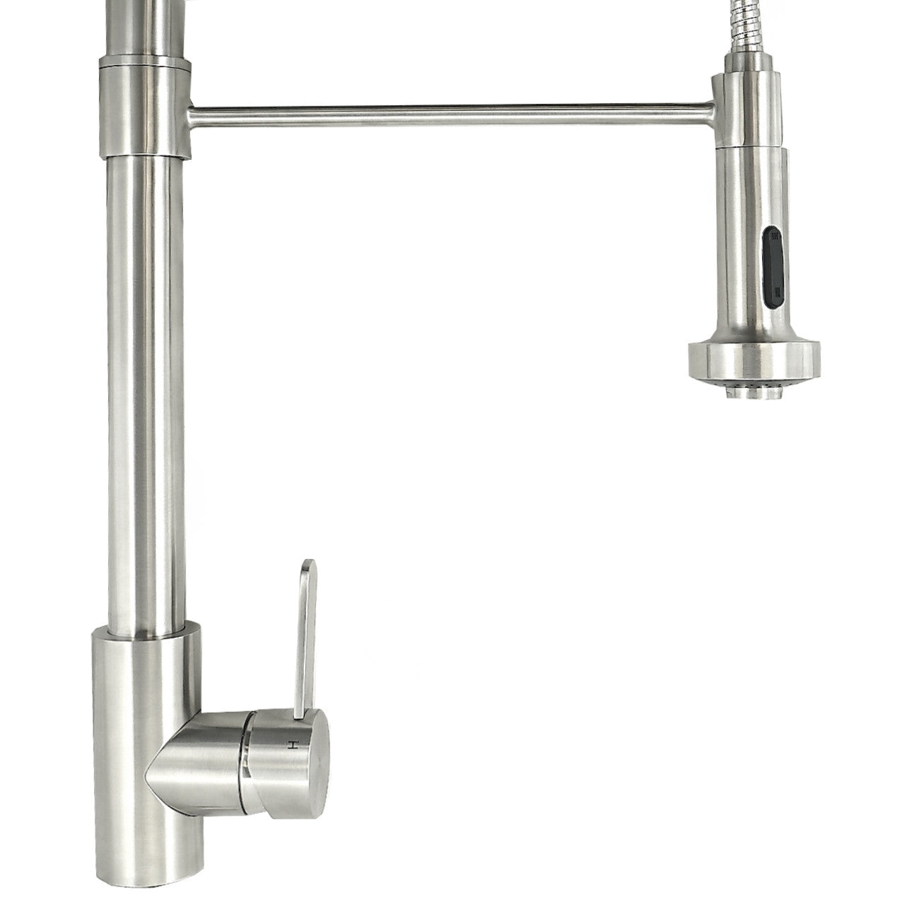 Stainless Steel Contemporary Spring-Style Kitchen Faucet
