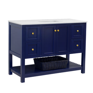 Lakeshore 48-inch Vanity (Quartz/Royal Blue)