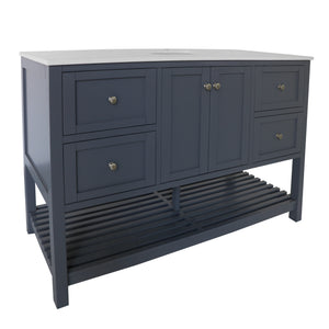 "Lakeshore 60"" Gray Shaker Bathroom Vanity Single Sink"