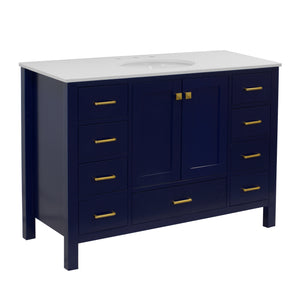 Horizon 48-inch Vanity (Quartz/Royal Blue)