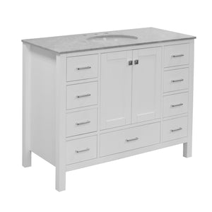Horizon 48-inch Vanity (Carrara/White)