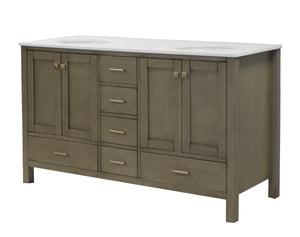 Horizon 60-inch Double Vanity with Quartz Top