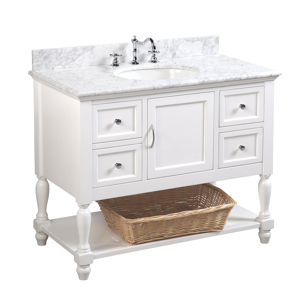 Beverly 42-inch Vanity (Carrara/White) – KitchenBathCollection