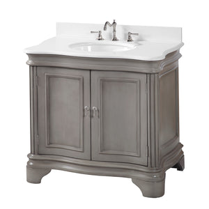 Katherine 36-inch Vanity with Quartz Top