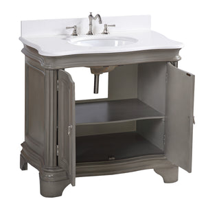 Katherine 36-inch Vanity (Quartz/Weathered Gray)