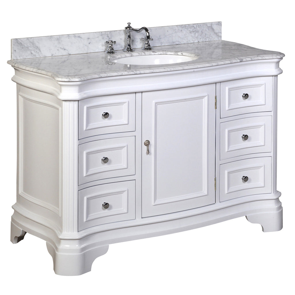 Katherine 48-inch Vanity (Carrara/White) – KitchenBathCollection
