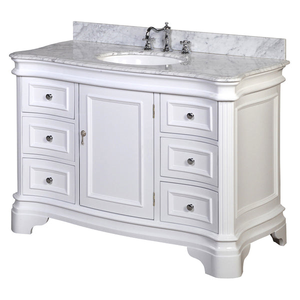 Wayfair Bathroom Vanity >> Katherine 48-inch Vanity (Carrara/White) – KitchenBathCollection