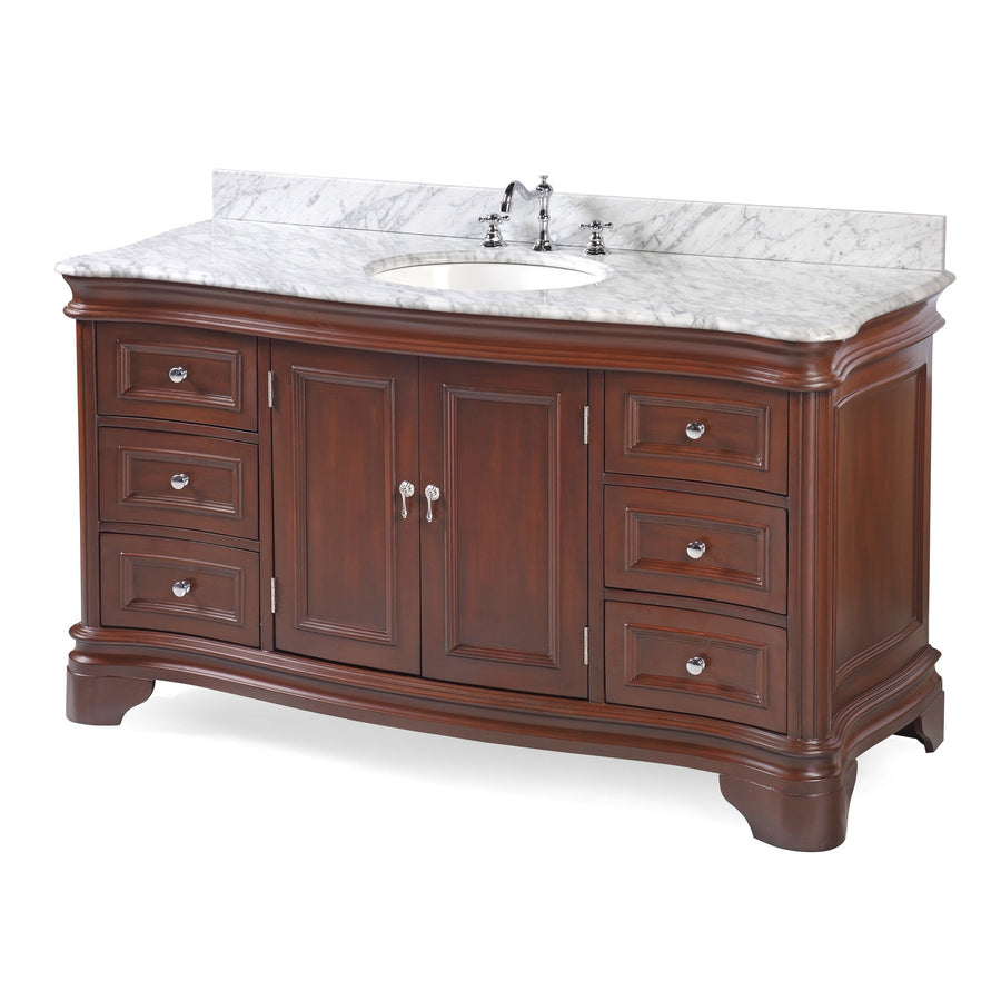 Katherine 60-inch Single (Carrara/Chocolate)