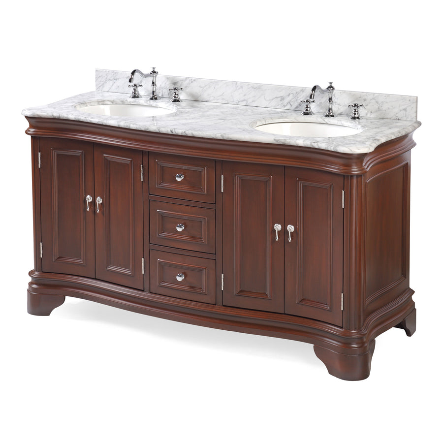 Katherine 60-inch Double (Carrara/Chocolate)