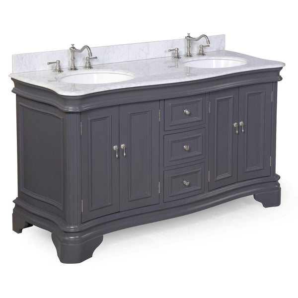 Katherine 60-inch Double (Carrara/Charcoal Gray)